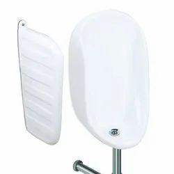 White Ceramic Half Stall Urinal, For Bathroom