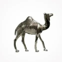 White Metal Camel Statue For Decoration & Gifting Purpose
