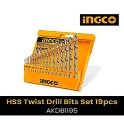AKDB1195 Ingco 19PCS HSS Twist Drill Bits Set