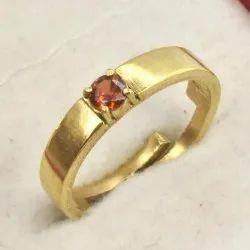 Silver Golden Zircon Studded Ring