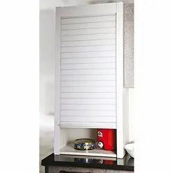Slimline Modular Kitchen Aluminium Rolling Shutter (600x1320) (White), Imported