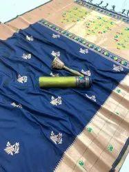6.3 m (with blouse piece) Wedding ANK Enterprise Kanchipuram Traditional Banarasi Silk Saree