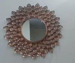 Iron Wall Mirror, Mirror Shape: Round
