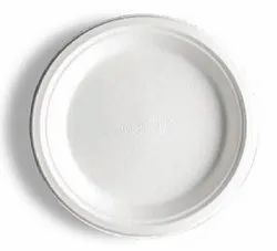 10 Inch Round Sugarcane Bagasse Biodegradable Plate