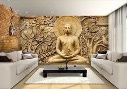 Buddha murals stone