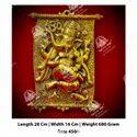 Polished Golden Ganesh God Statue