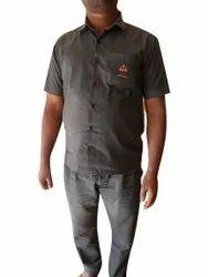 Grey Cotton Security Guard Uniform, Size: XXL
