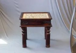 Wooden Coffee Table Carved