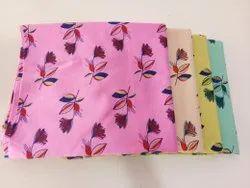 44inch Printed Auto Loom Cotton Kurti Fabric, Pink