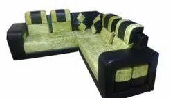 Modern Hall Wooden L Shape Sofa Set, For Sitting