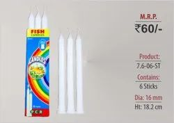 Plain Waxstand Candles 7.6-06-ST