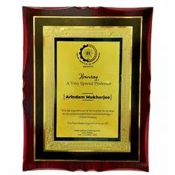 Wooden Plaque With Sticker2 (Adhesive)