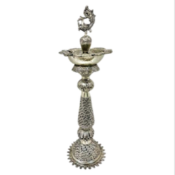 Silver Plated Pooja Samai / Diya For Pooja Purpose & Corporate Gift