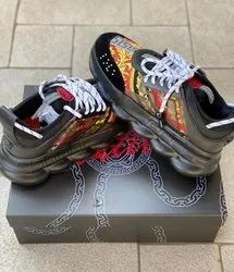 Sports Men Versace Chain Reaction Shoes, Size: 41 To 45