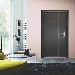 Iron Powder Coated Steel Doors, Double Door, Thickness: 70 Mmm