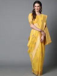 SAREEMALL Wedding Wear Designer Silk Blend Saree, 6.3 m (with blouse piece)
