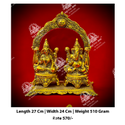 Polished Laxmi Ganesh God Statue