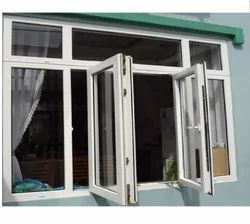 White Residential UPVC Glass Swing Window, Glass Thickness: 5mm