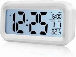 Rectangle digital Alarm Clock Only White