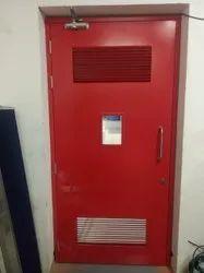 GI Louver Metal Door, Thickness: 46MM, Material Grade: 16 G