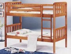 wooden colour bunk bed