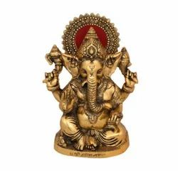 Gold Plated Ganesh Idol For Decoration & Corporate, Diwali Gift
