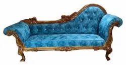 Wooden Antique 3 Seater Luxury Velvet Couch Sofa, Living Room, 5 Inch