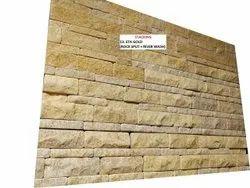 Eta Gold Rock Split Natural Stone Tile, For Flooring, Thickness: 20mm