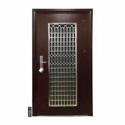 Brown Iron Steel Double Door PGD-2, Thickness: 70MM, Material Grade: Zink Alloy Dkp Sheet