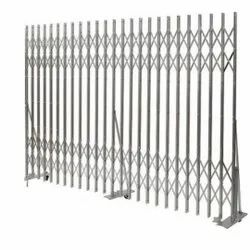 Sliding Silver Ms Collapsible Gate, For Industrial