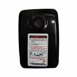 Mild Steel Splendor Black Petrol Tank Lid Plate