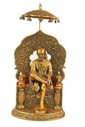 Metal Gold Plated Sai Baba Statue For Home Decoration & Wedding, Corporate Gift