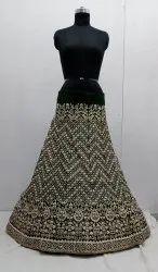 Granthi Fashion Satin Heavy Embroidery Work Lehenga
