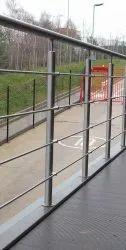 Stainless Steel Balcony Railing, Mounting Type: Floor