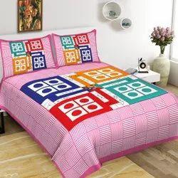 Ludo Jaipuri Cotton Bedsheet
