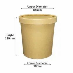 750ml kraft paper container with lid