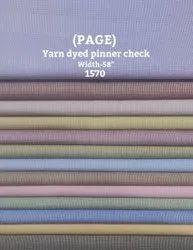 Page Yarn Dyed Pinner Check Shirting Fabric