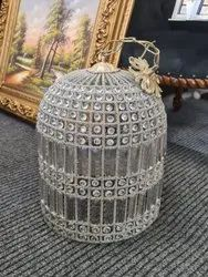 Iron Cylindrical Cage Chandelier