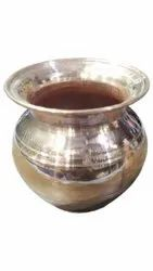 Golden Round 200gm Copper Water Lota, For Pooja