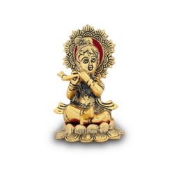 Gold Plated Laddu Gopal Statue For Home Decoration & Corporate Gift