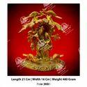 Golden Metal Kala Radha Krishna God Statue