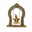 Gold Plated Laddu Gopal Jhulla For Home Decor & Corporate Gift