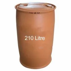 Brown Cylindrical Chemical Storage HDPE Plastic Drum, Capacity: 210L