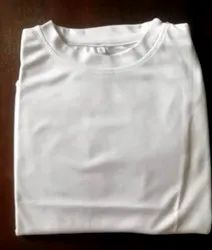 White,More Colours Available Polyester T-Shirts Men Readymade Garments