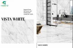 White Porcelain Greenzone PGVT Tile, Thickness: 8 - 10 mm, Size: Medium