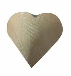 Heart Shape Wooden Box, For Home, Size: 16.5 X 16.5 X 5.5cm