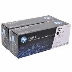 Hp 12A Dual Pack Black Toner Cartridge(Twin Pack)