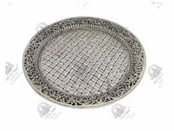 12 inch Round Silver Plated Artifacts