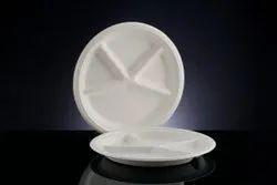 4 CP Sugarcane Bagasse Biodegradable Plate