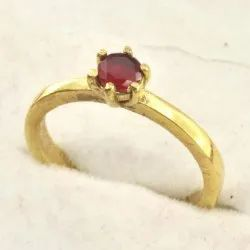 Zircon Studded Gold Plated Ring